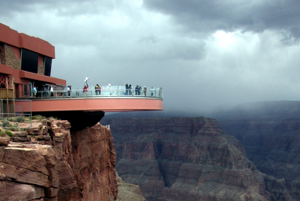 Cloudy day at the Grand Canyon Skywalk