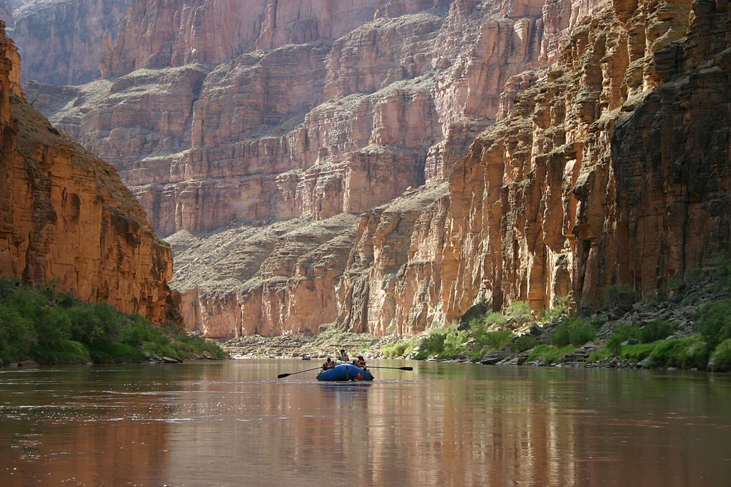 Boating down the Colorado River at the Grand Canyon
