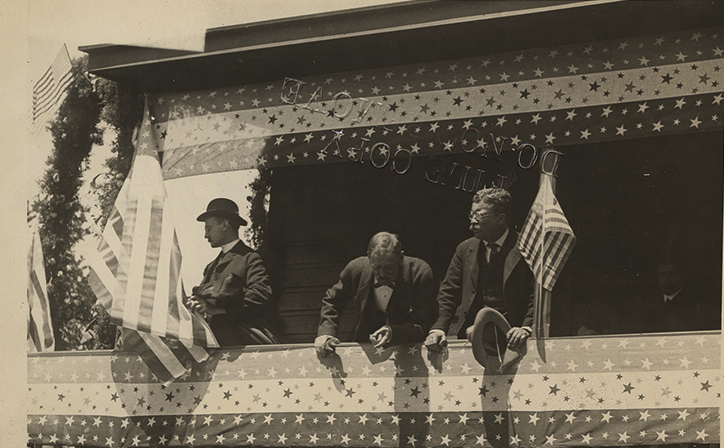President Theodore Roosevelt Delivering Speech at the Grand Canyon National Park, in Arizona Photo