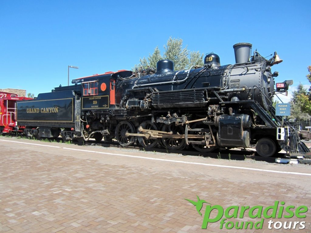 Steam locomotive No. 29 was built in 1906 by the American Locomotive Company in Lima, Ohio