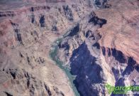 The view of the Colorado River is spectacular from above