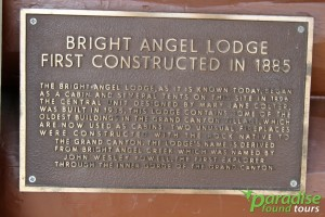 Bright Angel Lodge Placard Photo.