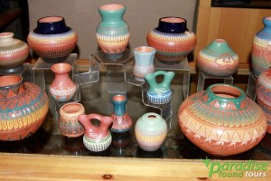 Authentic Indian Pottery is a speciality at Grand Canyon South Rim's Hopi House