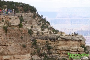 Grand Canyon Yavapai Point view as photographed from Mather Point