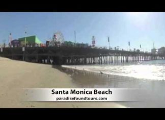 Santa Monica Beach California is one of the many stops on the Las Vegas To Hollywood Tour